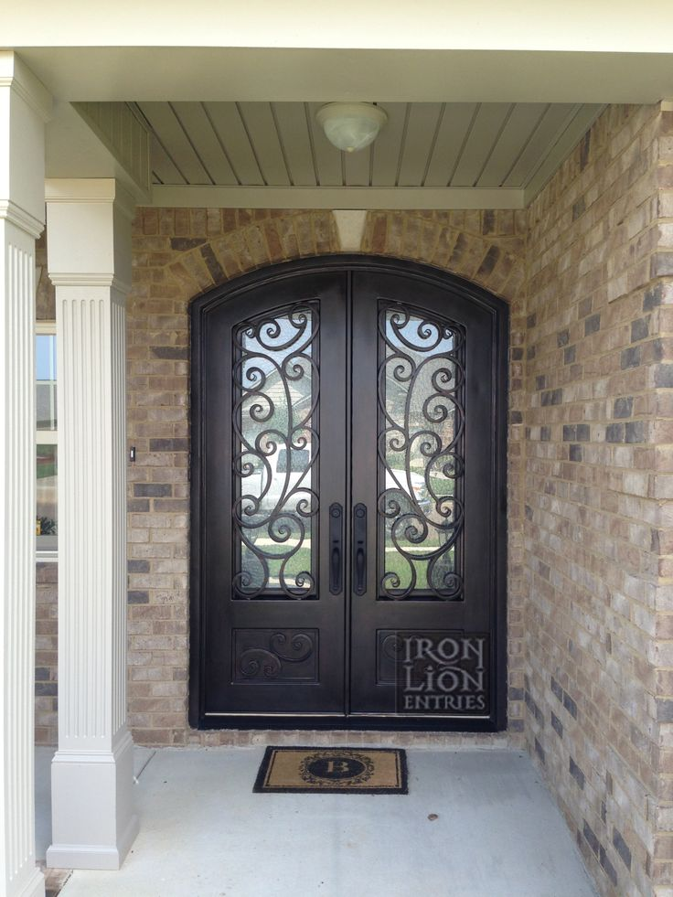 Custom Iron Door Front Entry Door Wrought Iron Door & 76 best Iron Front Door Installations images on Pinterest | Entrance ...