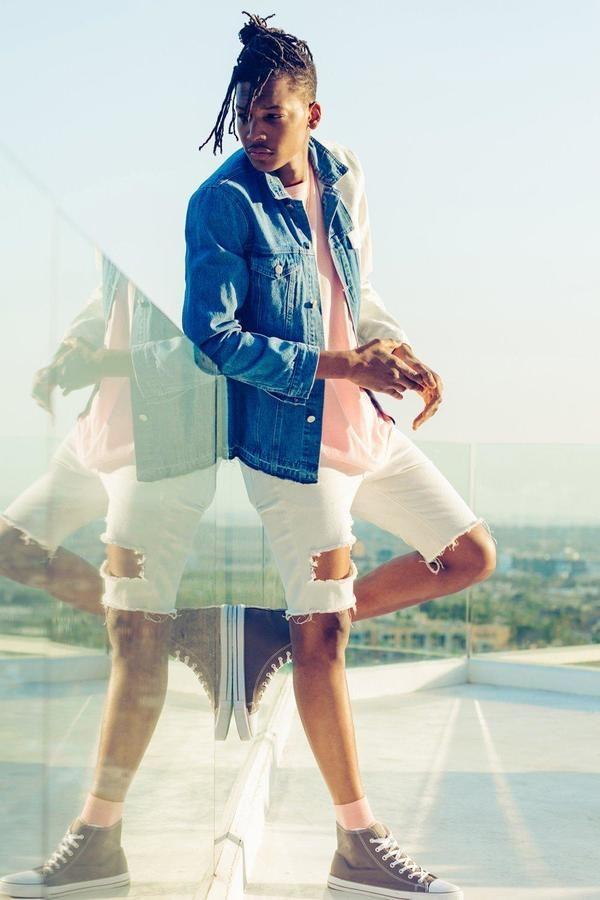 boohoo Skinny Fit Distressed Denim Shorts