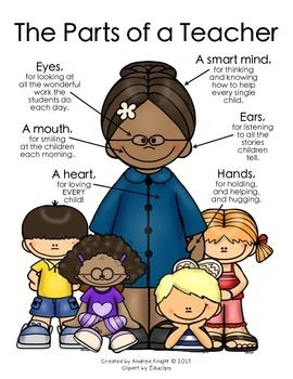 NEW:  The Parts of a Teacher {Deeper Skin Tones}  Download includes two different versions.  $
