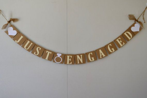 Just Engaged Banner by JKreations2013 on Etsy, $15.50