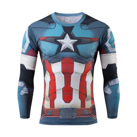 Captain America Digital Printing Mens Fitness t shirts XS-4XL Only $19.99 => Save up to 60% and Free Shipping => Order Now!#Long Sleeve T-Shirts #Short T-Shirts #T-Shirts fashion #T-Shirts cutting #T-Shirts packaging #T-Shirts dress #T-Shirts www.funkyshirtsto...