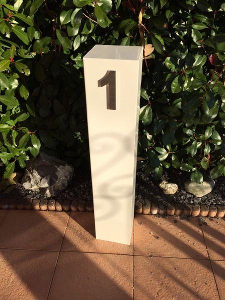 Stahlsäule ws Hausnummer Hausnummerschild Säule Nr von tm-te-ha via dawanda.com