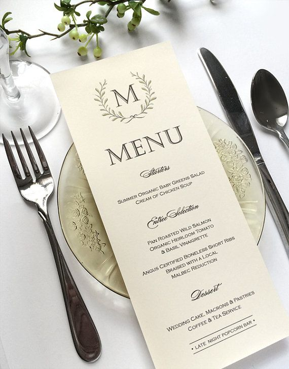 Best 25 Wedding Menu Ideas On Pinterest