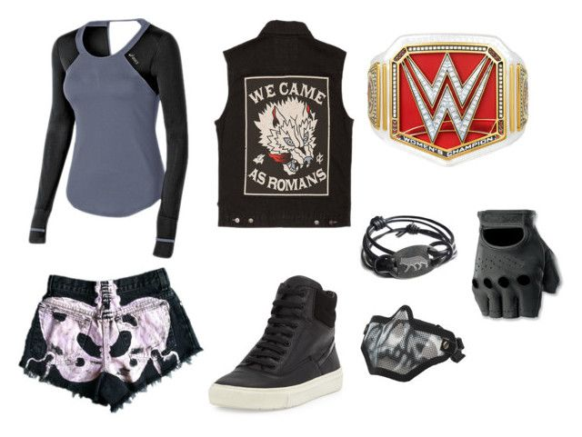 """""""•wwe fighting gear (1)•"""" by katyb101 ❤ liked on Polyvore featuring Asics, Vince and Glamour Kills"""