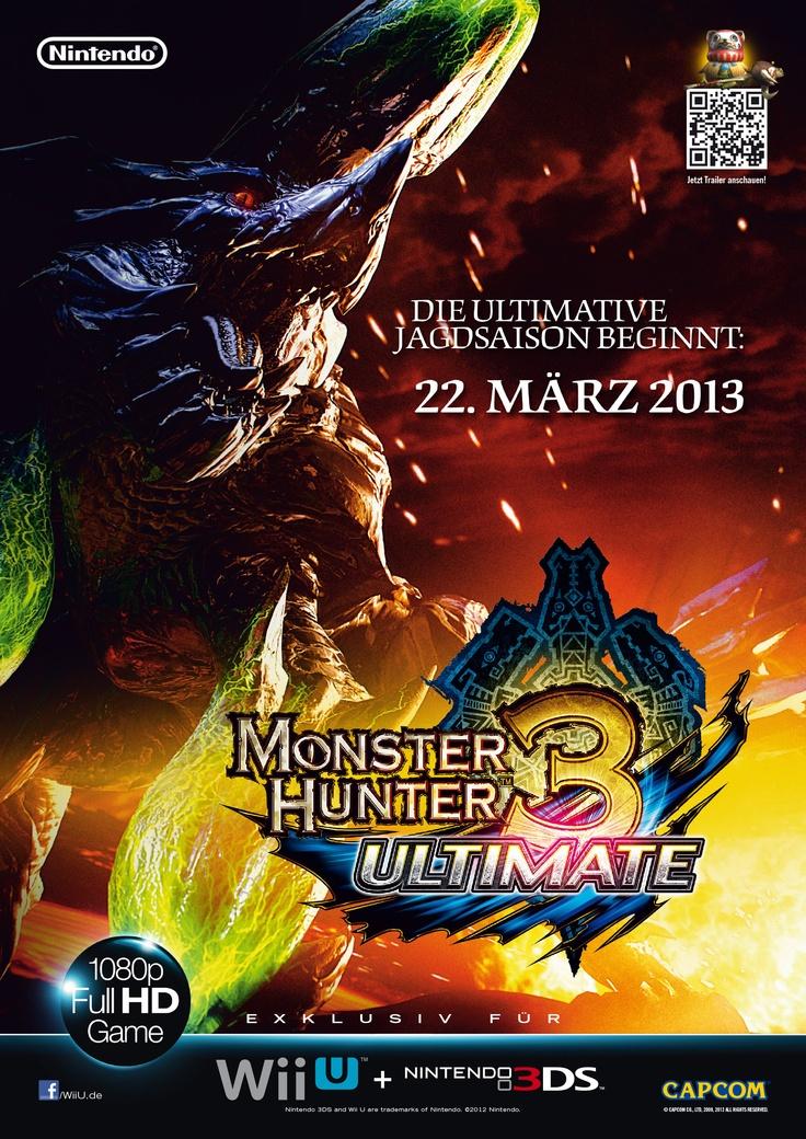 Teaser Ad . Monster Hunter 3 Ultimate . Wii U, Nintendo 3DS