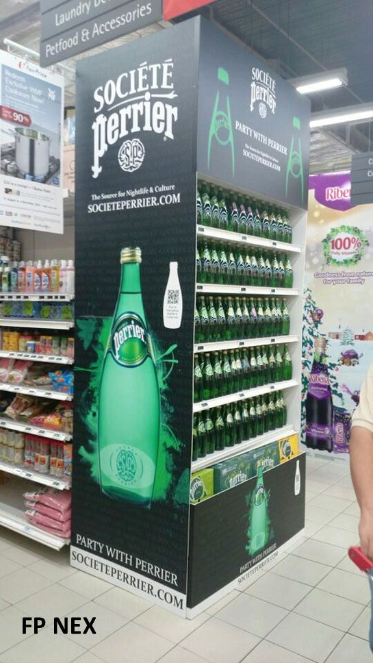 Perrier Christmas 2013 | Gondola Display | point of purchase at…