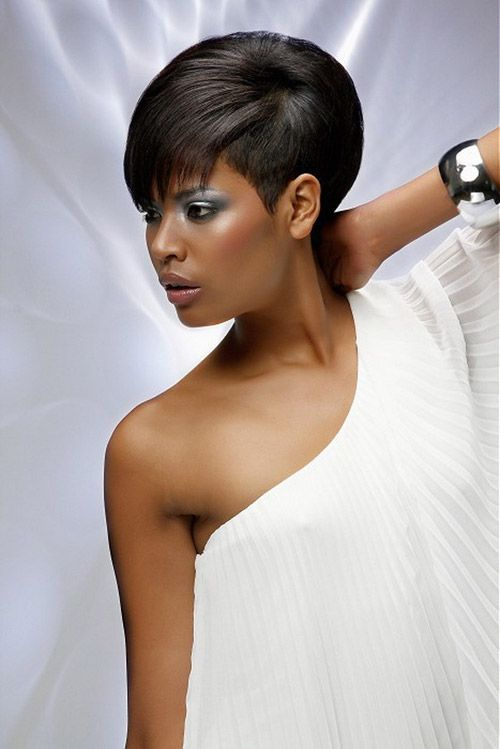 Short bridal hairstyles for black women 2013