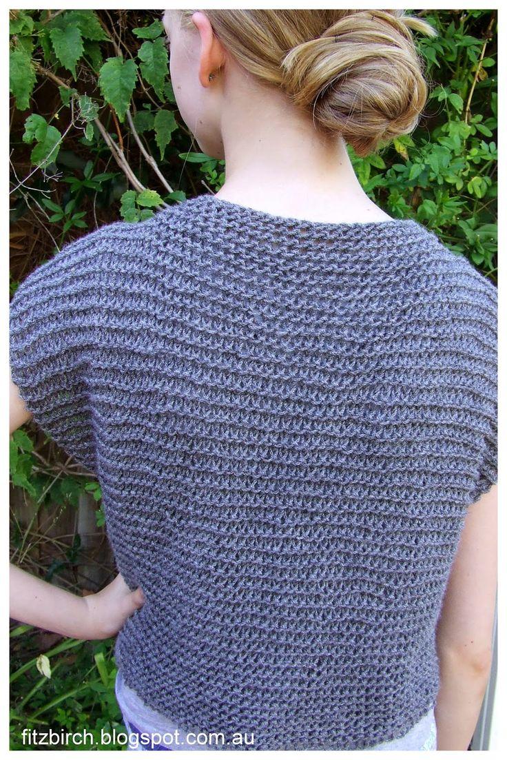Garter stitch beginner knit vest.  Free instructions from Fitzbirch Craft