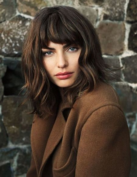 Wavy Bob Long Fringe Hairstyles 2018