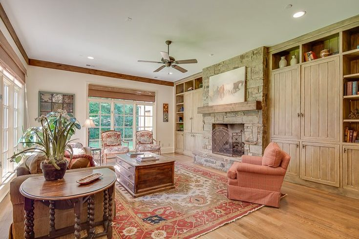 We love the fireplace in this cozy living room at 6366 Ronald Rd. Memphis, TN 38120
