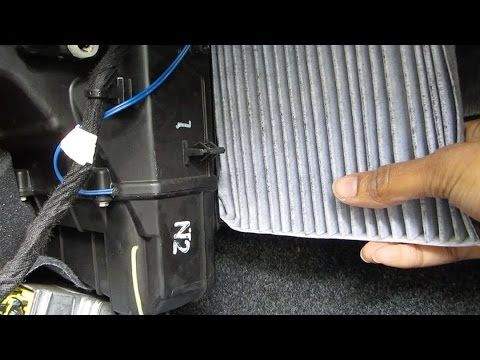 Purchase this filter at http://www.filterheads.com/AQ1199 AQ1199 filter fits: Fiat 500 2012 - 2016 The model shown in this video is a 2012 Fiat 500, but inst...