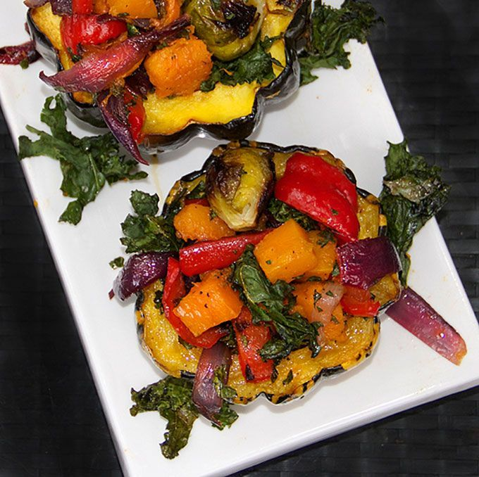 celebration of fall vegetables - roasted squash stuffed with roasted ...
