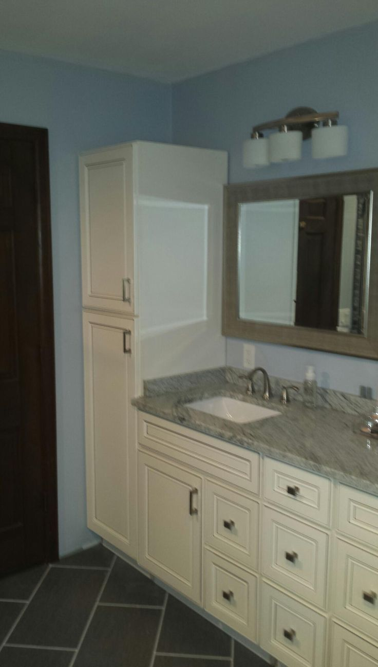 York Antique #white Bathroom Vanity #remodel By Lily Ann #cabinets I Would  Like