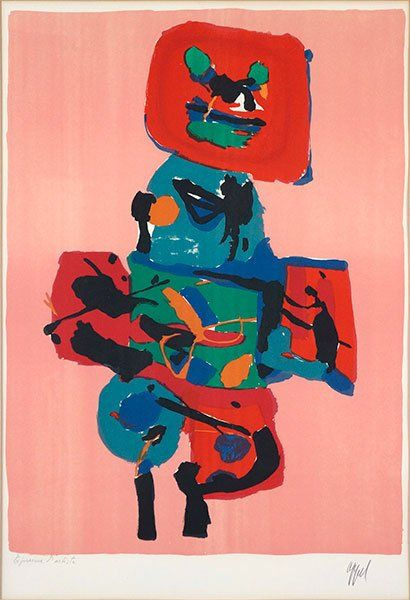 Karel Appel (Dutch, 1921-2006) Untitled. Lot 152-6039
