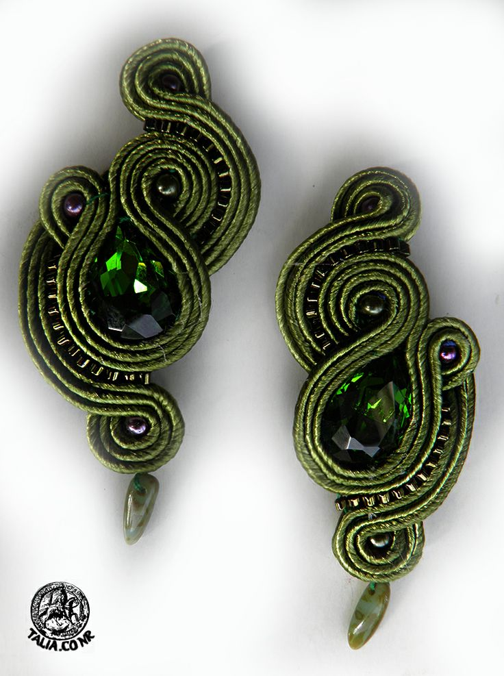 Earrings in Green