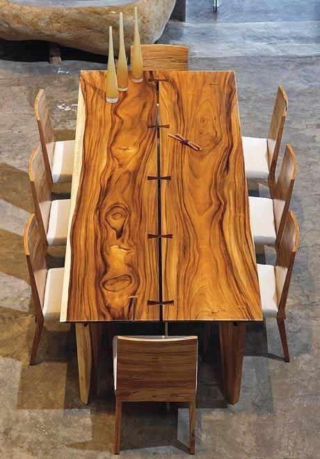 "Added to our Furniture Woodworking Design board on Pinterest is this ""parota dining table..."" Very nice indeed."