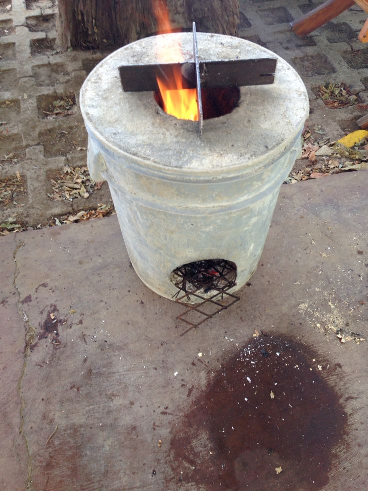 Rocket Stove My Hubby Made Pre Adornment Will Tile It