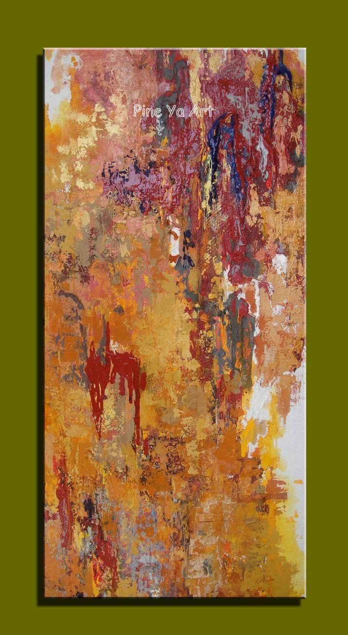 Большой абстрактные современные холст стены искусства ручной работы изображение вертикального большой текстурированные картина маслом на холсте для гостиной украшения