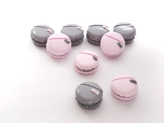 Marque place rose ou gris perle macaron et petit nœud - Marque place mariage, baptême, anniversaire