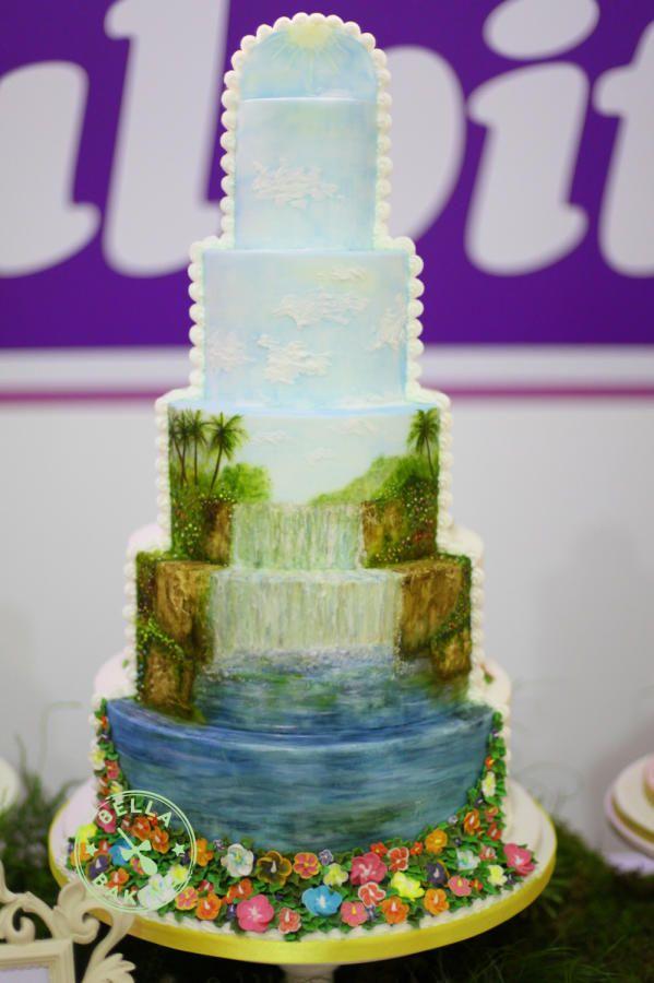 Tropical Waterfall Cake - Cake by Bella Baking