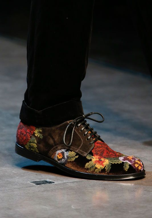 Needlepoint embroidered shoes from dolcegabbana