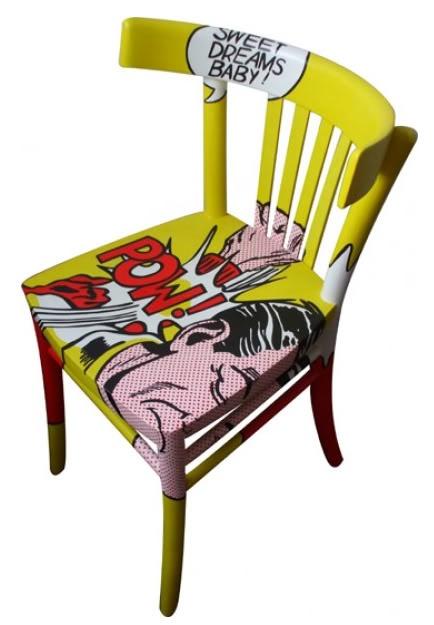 M veis vintage quadrinhos e pop art table pinterest pop cadeiras e pop art - Mobiliario pop art ...