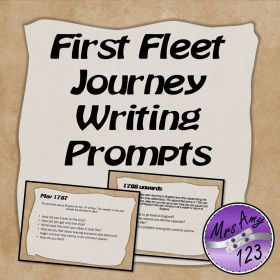 Subjects :: Humanities & Social Science :: HASS :: First Fleet Journey Writing Prompts