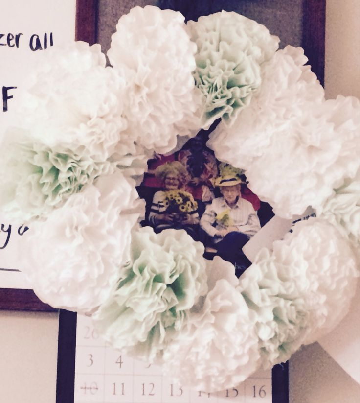 ... Wreaths I've Made on Pinterest | Coffee filter wreath, Coffee filter