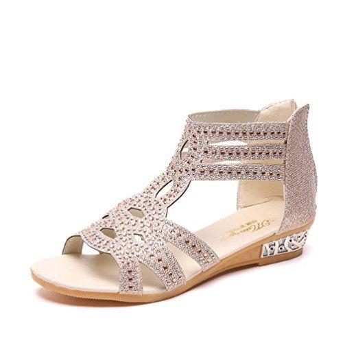 ffadd83be7200 LUCKYCAT Prime Day Amazon Sandales d été Femme Chaussures de Été Sandales à  Talons Chaussures