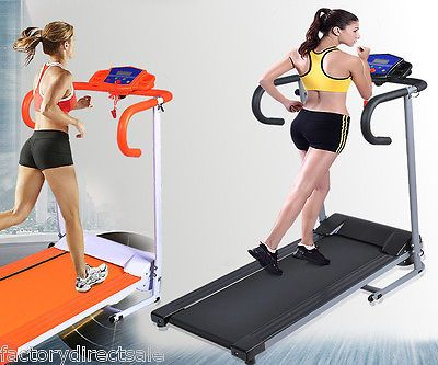 New 500W Folding Electric Treadmill Portable Motorized Running Machine Black | eBay