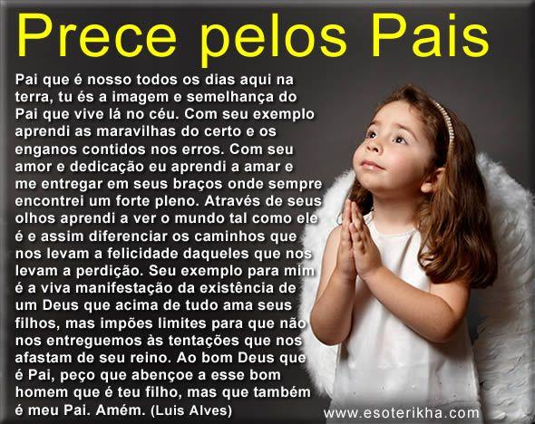 prece para o dia dos pais, pequena oração
