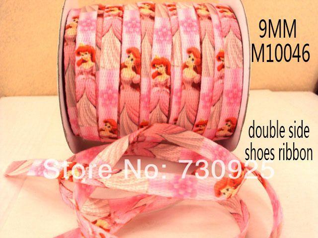 5Y10046 бесплатная доставка 3/8  двухсторонняя напечатаны обуви, Чистка веревки, Шнурки полиэстер шнурки подарочная упаковка мини-заказ $ 6