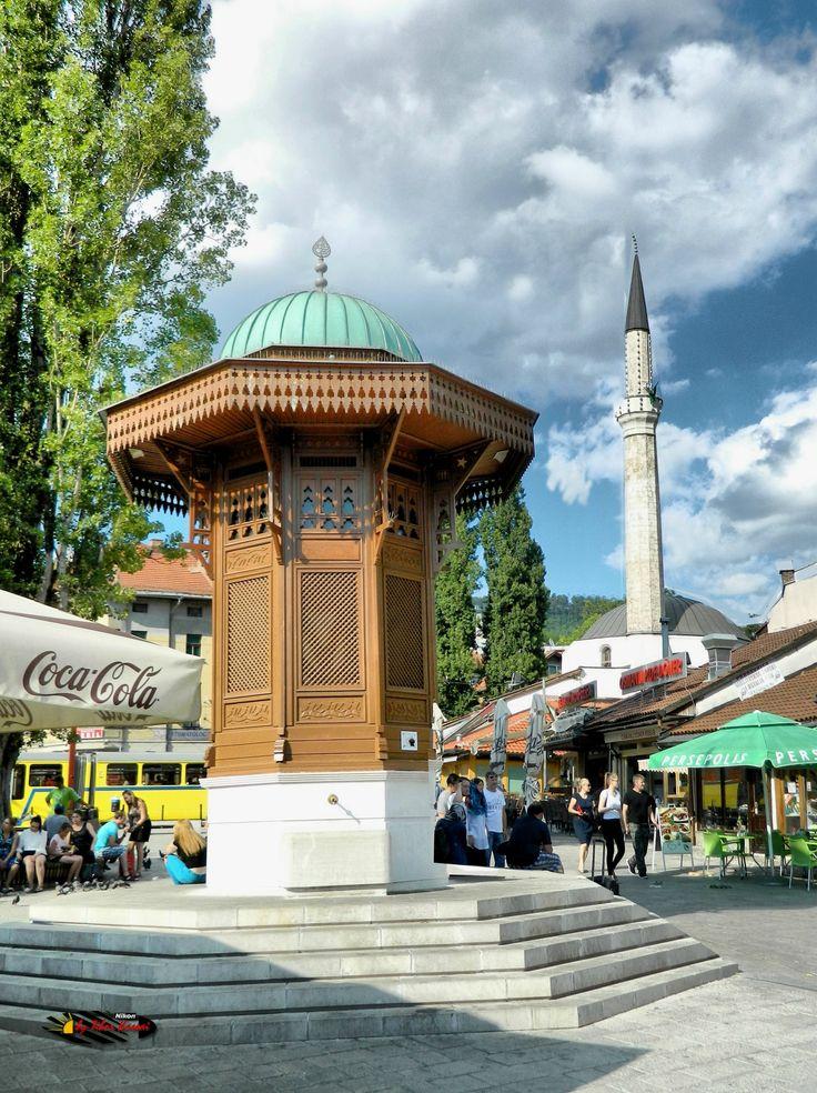 Sebilj Brunnen ( Fountain), Bascarsija, Sarajevo, Bosnia and Herzegovina, Nikon Coolpix L310, 5.6mm, 1/640s, ISO 80, f/3.2, +0.7ev, HDR-Art photography, 201607101626
