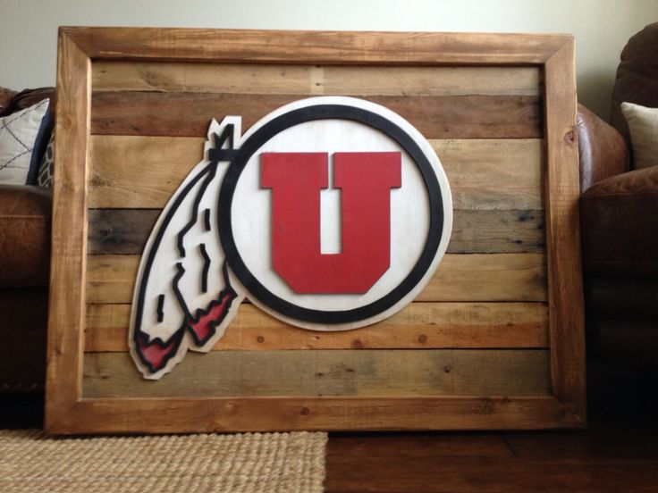 University of Utah 3-D logo hand cut sign on reclaimed wood. Utes sign - 127 Best Images About Signs On Pinterest Logos, Utah Jazz And