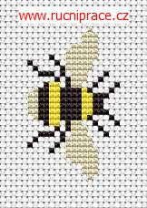 Bumble-bee, free cross stitch patterns and charts - www.free-cross-stitch.rucniprace.cz