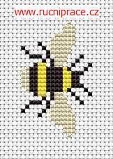 Bumble-bee, free cross stitch patterns and charts - www.free-cross-stitch.rucniprace.cz