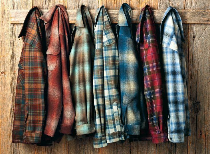 pendletonwoolenmills:  Pendleton wool shirts.