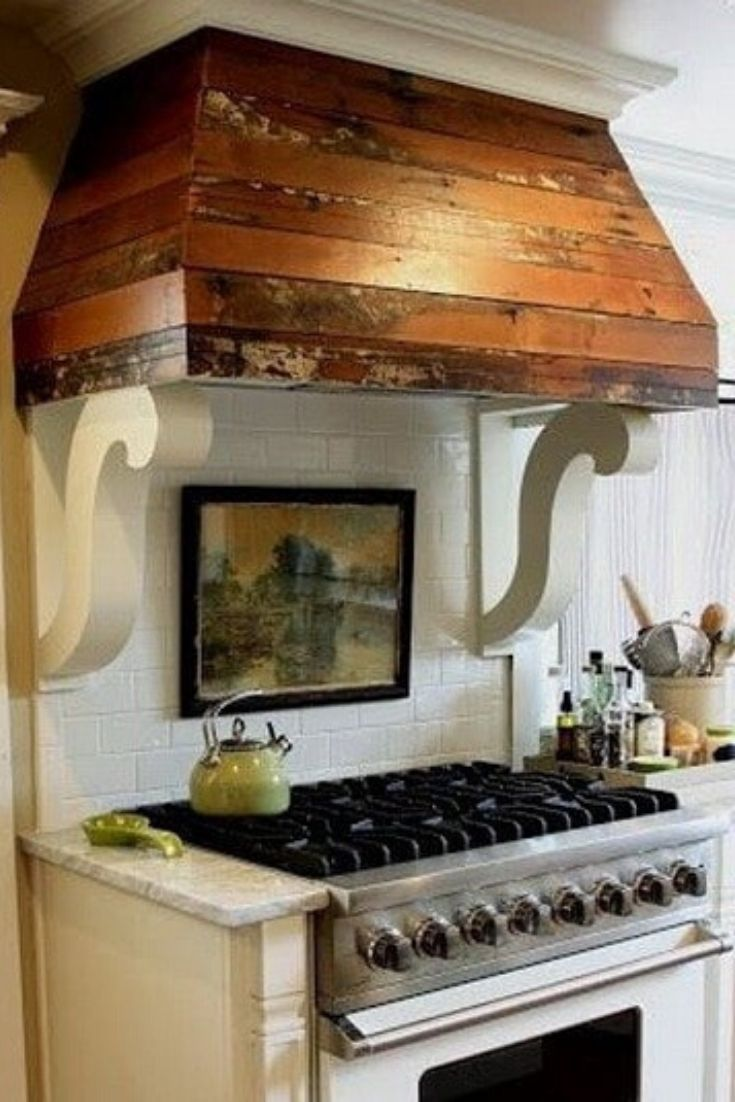 Kitchen Hood Ideas (Glossy Modern Island Range Hood) in