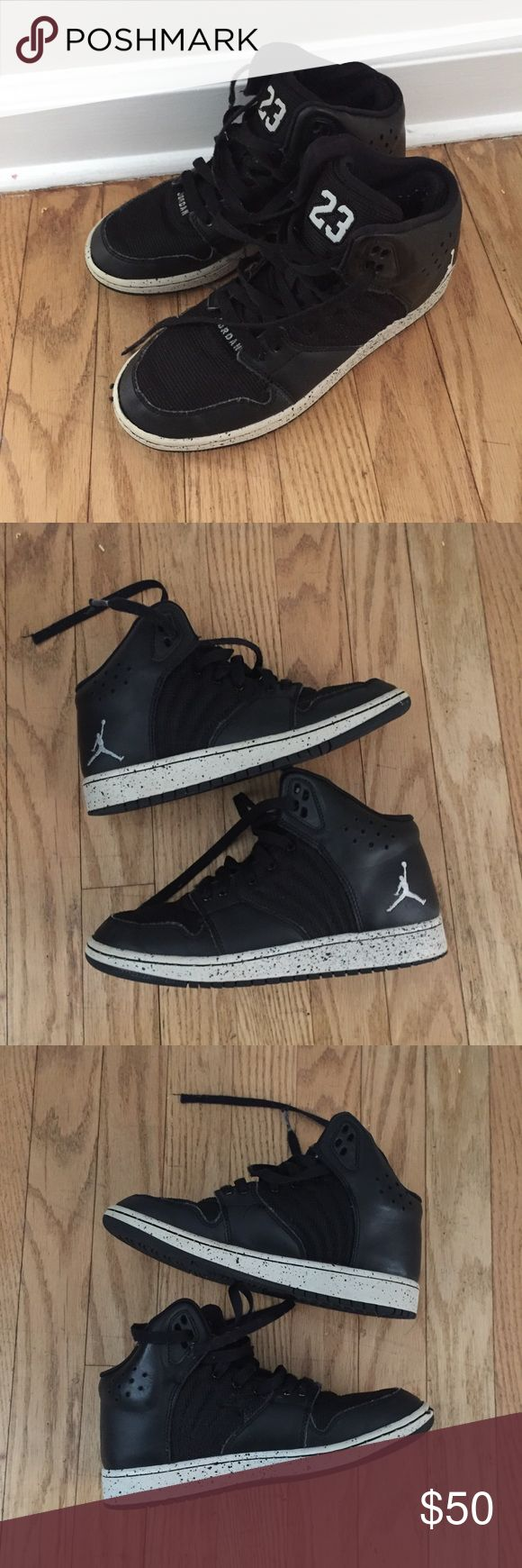 Nike Michael Jordan Kids Size 4.5Y Sneakers Great, minimally worn condition. Youth Size 4.5Y. Colors: Black and White. michael Jordan Shoes Sneakers