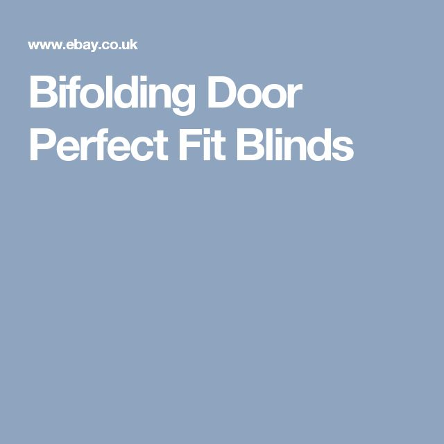 Bifolding Door Perfect Fit Blinds
