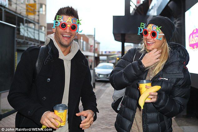 Blackpool mania! Gemma Atkinson and her Strictly Come Dancing partner Aljaz Skorjanec appear to have become rather taken with the seaside town as they entered Friday's rehearsal session in a pair of jazzy, novelty sunglasses