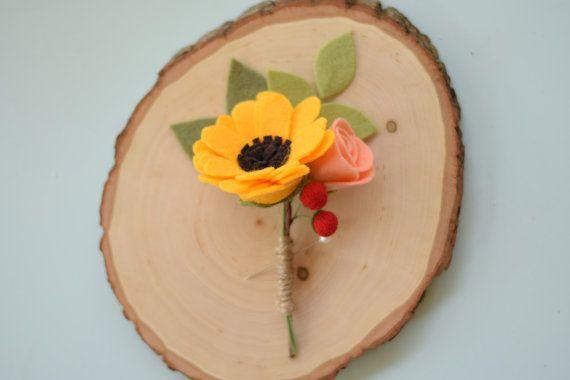 KOOP zonnebloem corsages vilten bloem corsages door SuchASquirrel