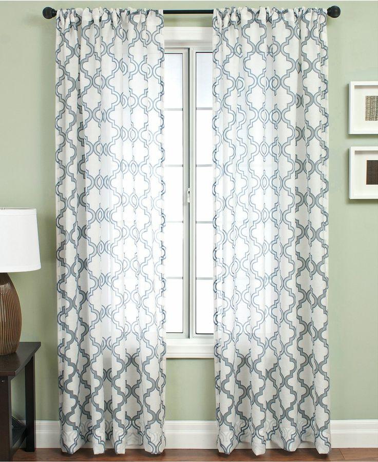 Softline window treatments samara burnout 55 x 108 for 108 window treatments