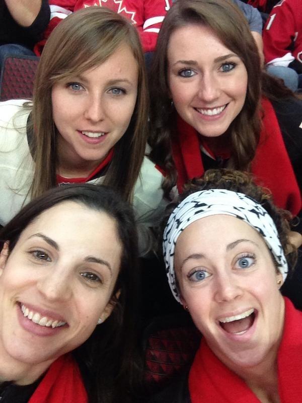Team homan at the Ottawa Senators opener