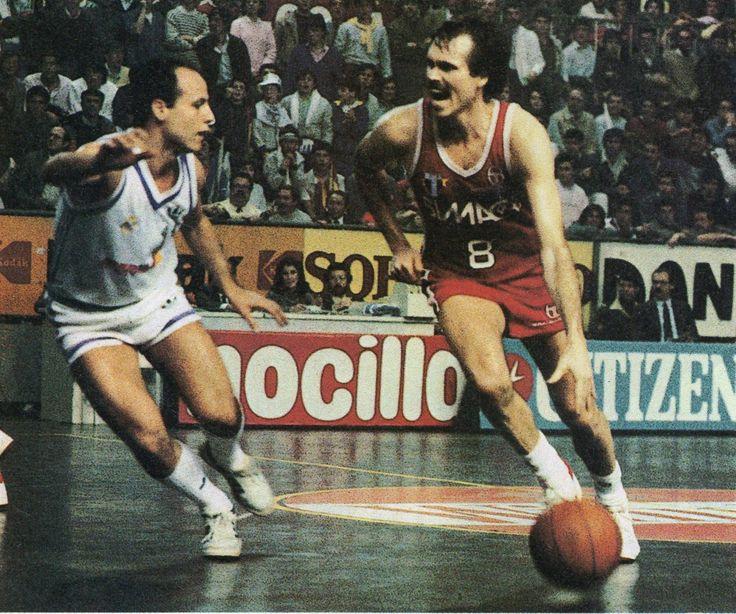 Real Madrid vs Olimpia Milano, Europe Cup 85/86. Juan A. Corbalán vs Mike D'Antoni.