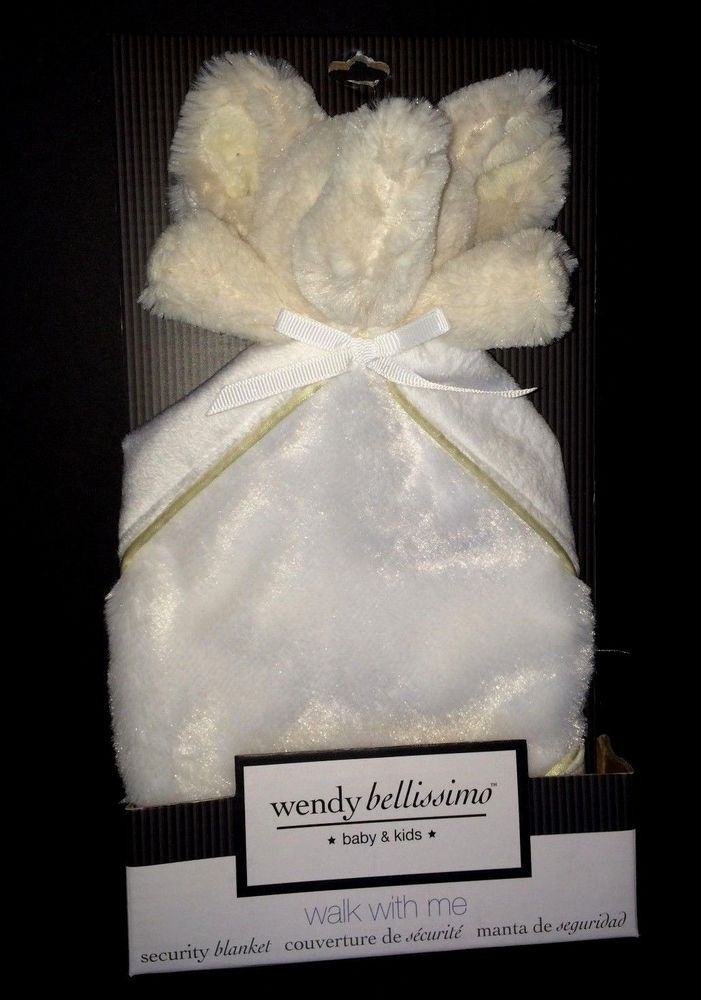 Wendy Bellissimo White Elephant Baby Security Blanket Walk With Me I Love You #WendyBellissimo
