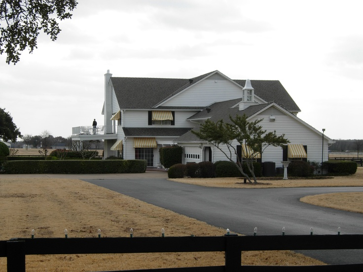 Driveway leading to the side of Southfork Ranch outside of Dallas, Texas