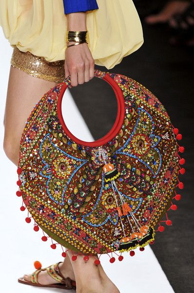 bohemian bag~~ wonderful play of color and texture on what looks to be a unique bag.