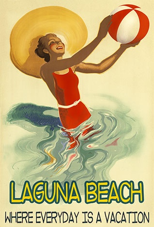 The Vintage Poster Laguna Beach, California (USA) #essenzadiriviera www.varaldocosmetica.it/en