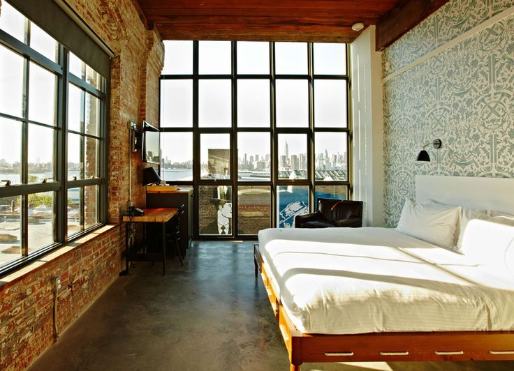 Bonus: This industrial-chic gem is across the bridge in Williamsburg, which might scare off some diehard Manhattanites, but trust the city skyline views from your loft-style room will more than make up for the extra travel time to get to Brooklyn.